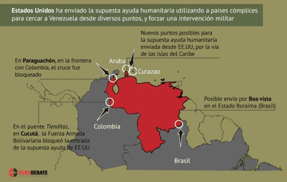 Blockade gegen US-Hilfsgüter - Venezolanische Häfen für Schiffe gesperrt