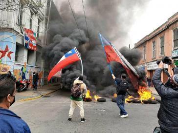 Barrikade in Valparaíso