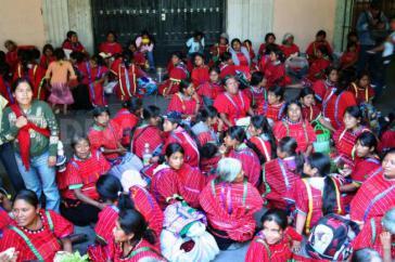 Protest von Triqui-Indigenas in Oaxaca-Stadt