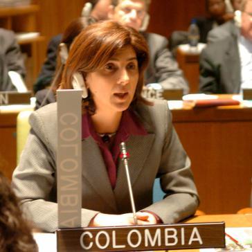 Designierte Außenministerin Kolumbiens, María Angela Holguín (hier bei UNO)