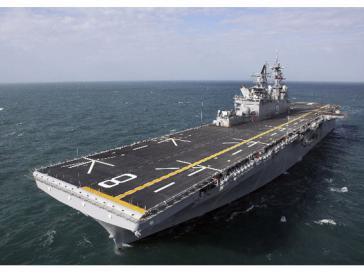 Flugzeugträger USS Making Island sucht Drogen?