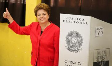 Muss in die zweite Runde: Dilma Rousseff