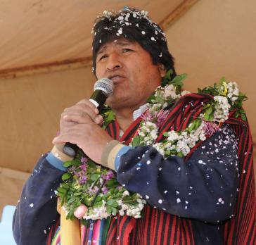 Präsident Evo Morales Ayma