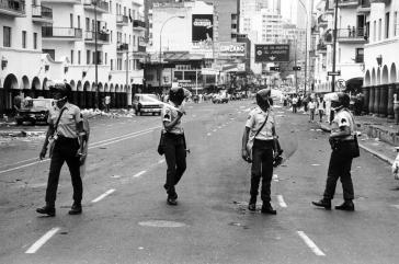 Die Guardia Nacional bei der Niederschlagung des Caracazo