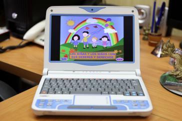 Minilaptop für den Gebrauch in der Grundschule