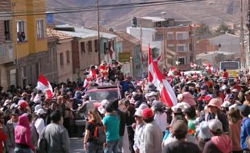 Gefeiert: Rückkehr der Verhandlungsführer nach Potosí
