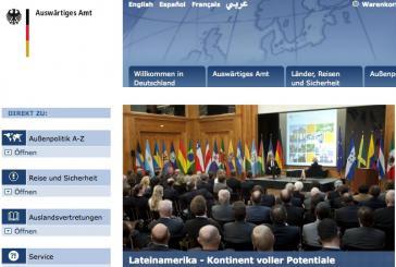 """Homepage des Außenamtes: Topthema ist die neue """"LAK-Strategie"""""""