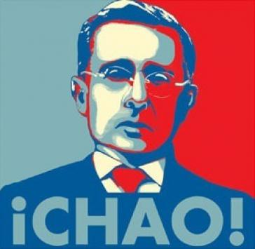Plakat gegen Uribe