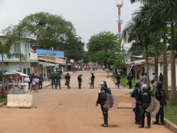 ESMAD-Polizisten in Puerto Gaitán