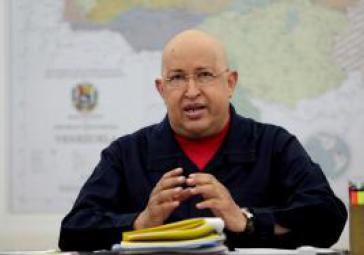 Hugo Chávez nach seiner Rückkehr von der Krebstherapie auf Kuba