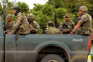 Honduranisches Militär in der Region Bajo Aguán