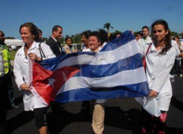 """Mitglieder der Ärztebrigade """"Ernesto Che Guevara"""" in Venezuela"""