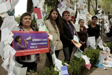Frauen in Mexiko protestieren anlässlich des fünften Jahrestages der Repression von Atenco
