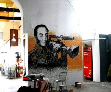 Kameramann beim Basis-Fernsehsender Catia TV: Der venezolanische Nationalheld Simón Bolívar