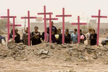 Protestaktion gegen Frauenmorde in Ciudad Juarez, Mexiko