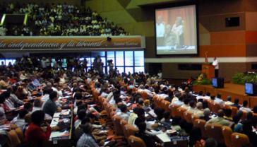 Szene auf dem sechsten Parteitag der PCC