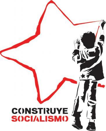Bau den Sozialismus auf - Graffiti-Vorlage aus Caracas