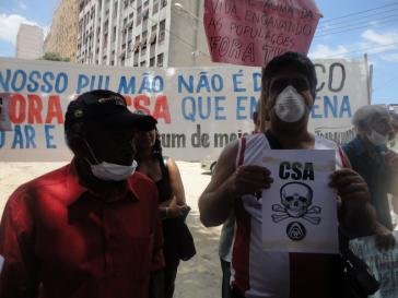 Demonstranten in Rio