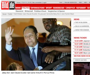 Foto von Duvalier auf der Gangway