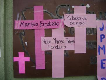 Gedenken an ermordete Frauen in Mexiko im Januar 2011
