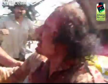 Gaddafi, kurz vor seinem gewaltsamen Tod