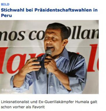 Humala: Ex-Guerillakämpfer oder -bekämpfer?