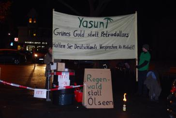 Protest gegen Dirk Niebel in Heidelberg