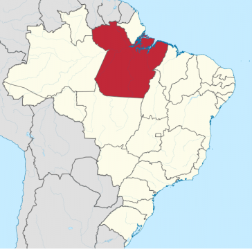 Der brasilianische Bundesstaat Pará in Brasilien