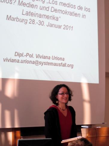 Politikwissenschaftlerin Viviana Uriona