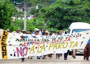 Demonstration gegen das Staudammprojekt im September 2009