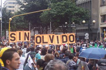 Marsch für die Verschwundenen in Kolumbien im März 2008