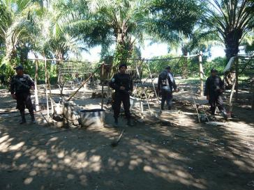 Militärs in der Region Bajo Aguán