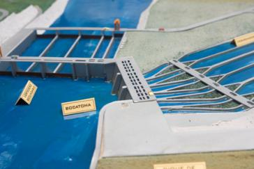 "Modell des Wasserkraftwerks ""Coca Codo Sinclair"""