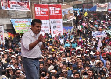 "Präsident Ollanta Humala startet das Programm ""Trabaja Perú"""