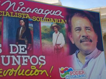 Wahlplakat für Ortega in Nicaragua