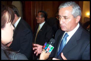 Otto Perez Molina wird neuer Präsident in Guatemala.