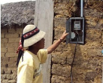 Elektrifizierung in einer Asacasi-Gemeinde