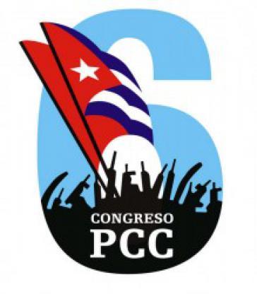 Logo des VI. Parteitages der PCC in Kuba