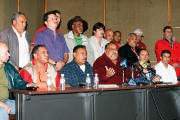 Pressekonferenz der CST-Führung. Mitte: Will Rangel