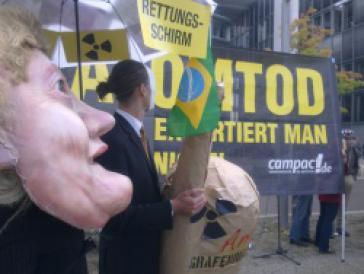 Protest gegen Exportkreditbürgschaft