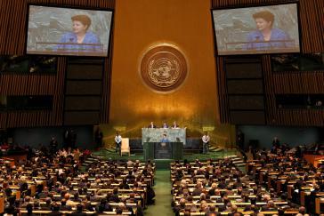 Dilma Rousseff vor der UNO-Generalversammlung