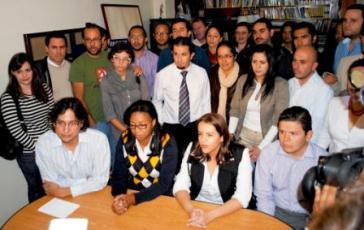 Pressekonferenz der Gruppierung Ruptura 25