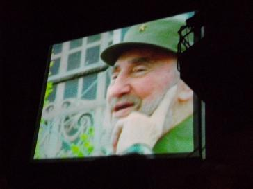 Nur auf dem Bildschirm: Fidel Castro