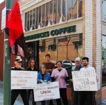 Aktion vor Starbucks-Filiale in Chile