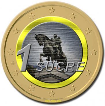 Sucre in Form einer Münze