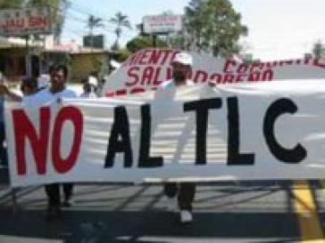 Demonstration gegen das Freinhandelsabkommen