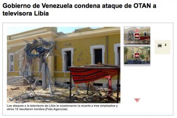 Der lateinamerikanische Sender Telesur zeigt die Folgen der Angriffe
