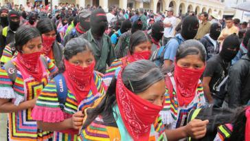 Zapatistische Frauen in San Cristóbal de las Casas