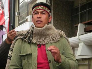 Verurteilt: Mapuche-Aktivist Mijael Carbone Queipul
