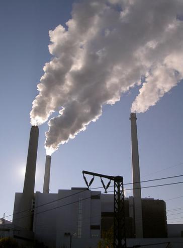 Emmissionen eines Heizkraftwerks in Deutschland